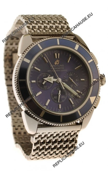 Breitling Chronometre Japanese Replica Watch in Blue Dial