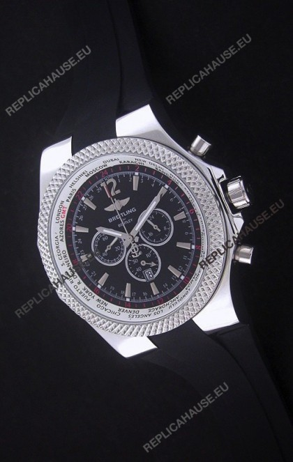Breitling Bentley Chronograph Japanese Replica Watch in Black Dial