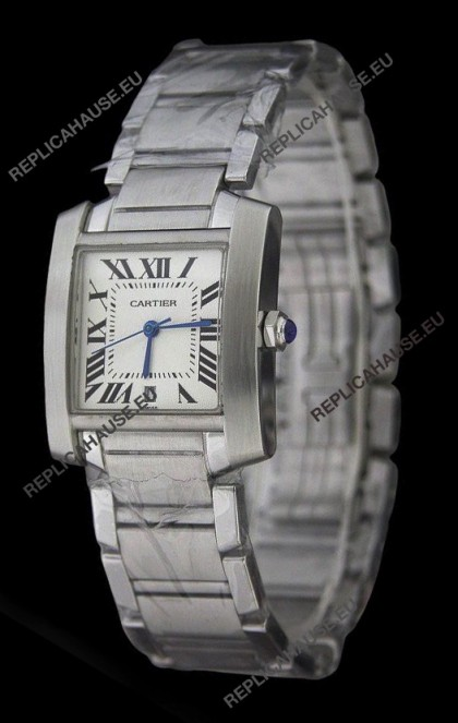Cartier Tank Fracaise Swiss Replica Automatic Watch Ladies Size