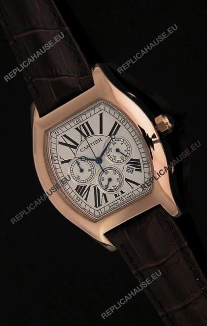 Cartier Tortue Japanese Replica Watch in White Dial