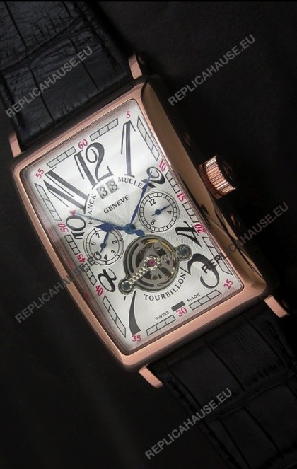 Franck Muller Tourbillon Japanese Replica Watch in White Dial