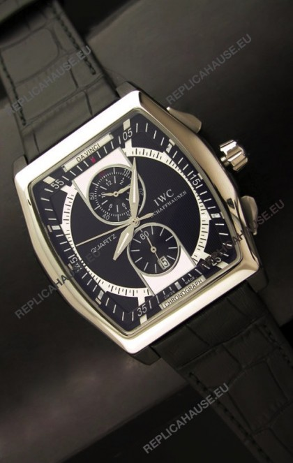 IWC Schaffhausen Japanese Replica Watch in Black Dial