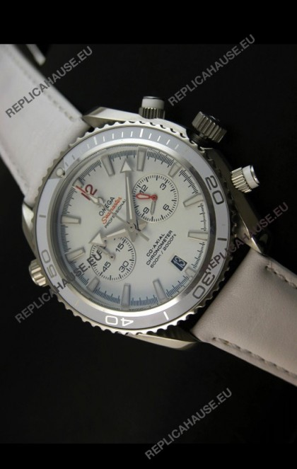 Omega Seamaster The Planet Ocean Japanese Replica Watch in White