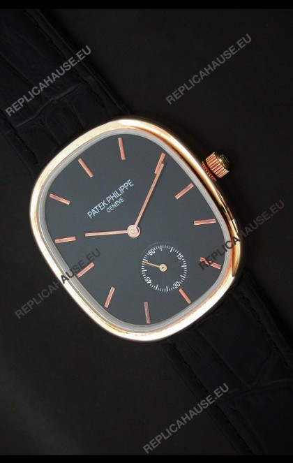 Patek Philippe Mens Golden Elipse Japanese Watch in Rose Gold