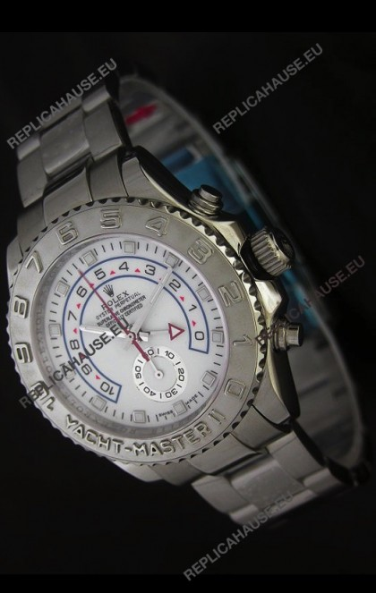 Rolex Yachtmaster II Swiss Replica Watch in White Dial