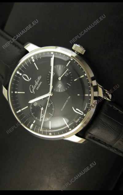 Glashuette Senator Japanese Replica Watch in Black Dial