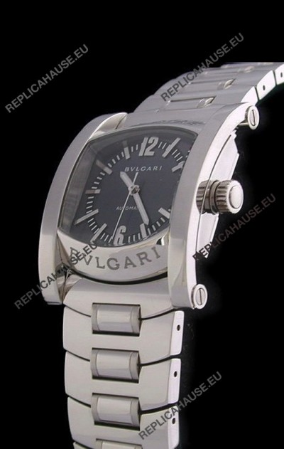 Bvlgari Assioma Japanese Replica Automatic Watch in Black Dial