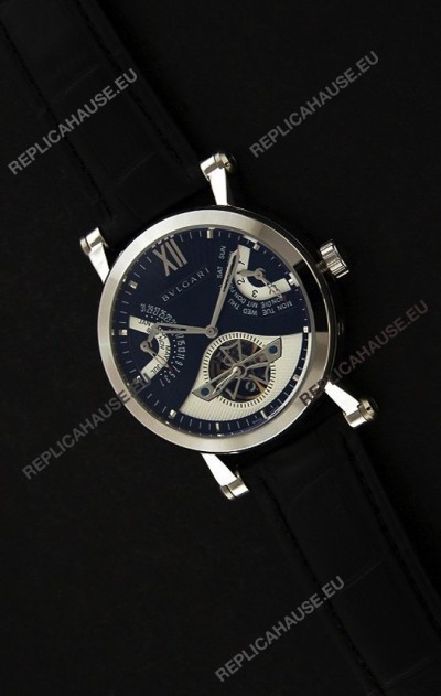 Bvlgari Sotirio Japanese Replica Automatic Watch in Blue Dial