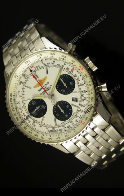 Breitling Navitimer 01 Swiss 1:1 Mirror Updated 2017 Replica Watch in White Dial