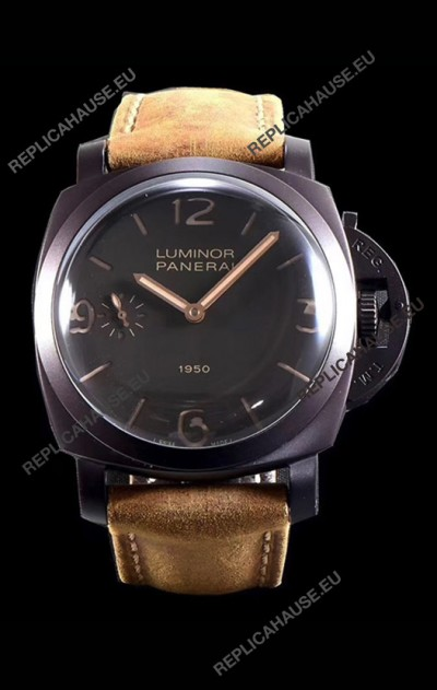 Panerai Luminor 1950 3 Days PAM00375 Composite Cased Vintage Edition Swiss Replica Watch