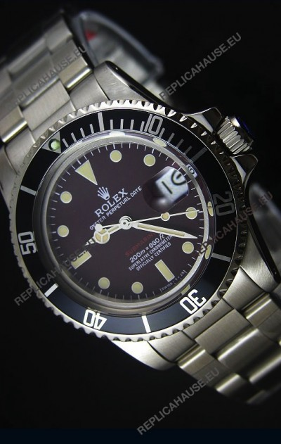 GOLDMOVEMENT - Rolex Submariner 1680 Vintage Edition Coffee Dial Swiss Watch 1:1 Mirror Replica Edition
