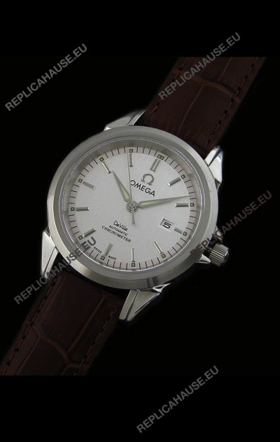 Omega De Ville Co Axial Automatic Watch in White