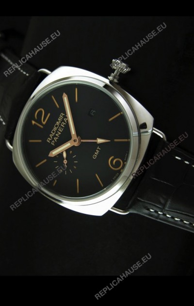 Panerai Radiomir GMT Japanese Replica Watch in Black Dial